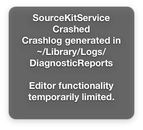 SourceKitService Crashed